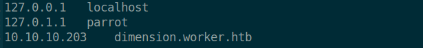 Adding to the domains to my host file.