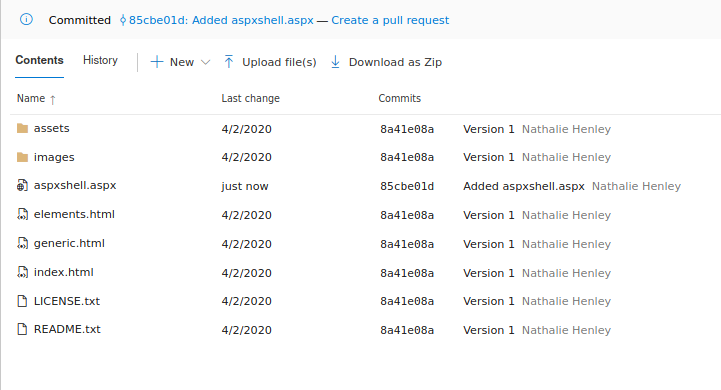 Create a pull request after uploading the file.