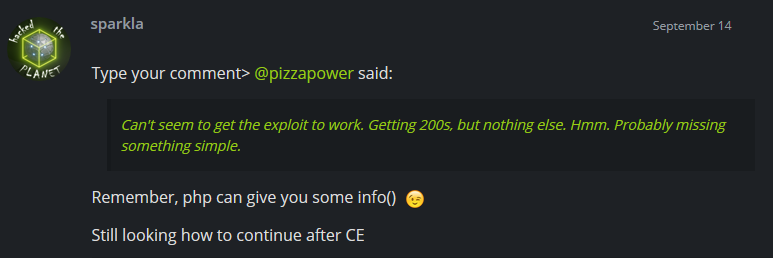 HTB Forums Hints!