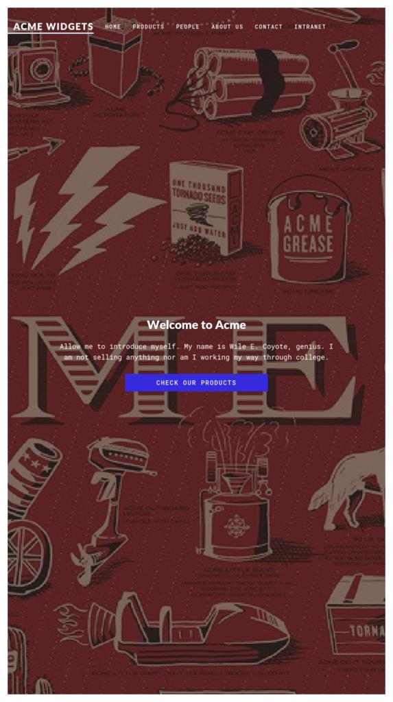 An Umbraco website running on Port 80
