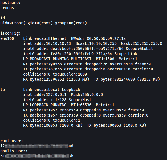 Rooted cronos with Proof.