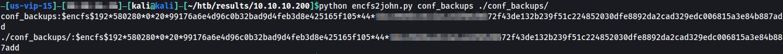 Using encfs2john to get the hash.