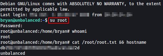 HTB Unbalanced Root Flag.